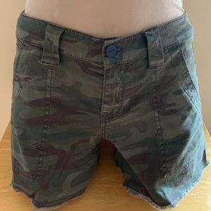 Anthropology camouflage shorts